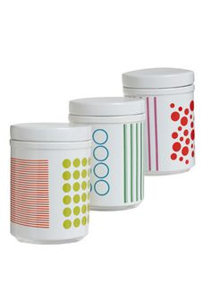 Out of Print Canister Set - would make great storage in a playroom