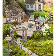 Miniature Fairy Garden Fairy Lane Set | Miniature Fairy Gardens