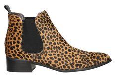Botín en pelo de potro con acabado de leopardo