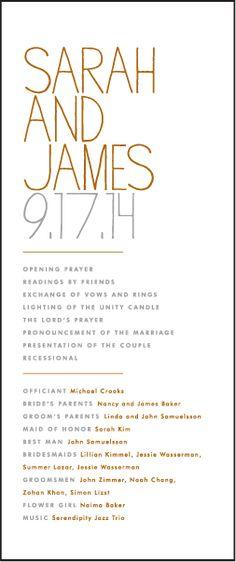 classic and elegant wedding ceremony program, PRINTABLE $2600 - burial ceremony program