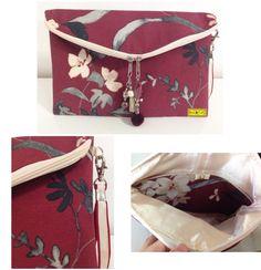 D I A • D A S • M Ã E S • 2 0 1 6   Boho Chique  Clutch de jacquard floral, forro de cetim creme, bolso interno de jacquard, detalhes de laço chanel. Penduricalhos no fecho.  Tamanho: 26 x 27cm   Mais em: arteestiloartesanato.wix.com/site