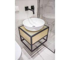 Mieszkanie na Woli - zobacz ciekawy miks stylów - Galeria - Dobrzemieszkaj.pl Sink, Table, Furniture, Home Decor, Sink Tops, Vessel Sink, Decoration Home, Room Decor, Vanity Basin