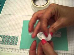How to make Paper Faux Bows with Stampin' Up Punches.mp4 - YouTube