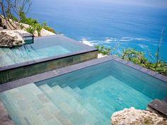 Personal Balinese infinity pools? Yes, please.