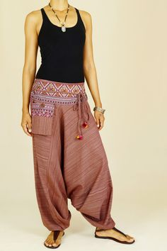 APSARA Boho Harem Pants in Cappuccino Color. VIsit our shop at http://stores.ebay.de/Asian-Spirit-and-Art