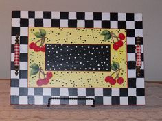 Check out this item in my Etsy shop https://www.etsy.com/listing/211616496/wood-tray-with-a-hand-painted-cherry