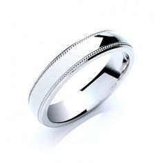 court mill grain platinum wedding band 5mm 180590 bridal platinum gents - Grooms Wedding Ring