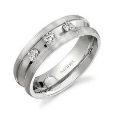 One of our favorite wedding rings for men from the Beau Collection