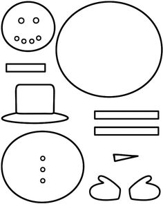 Cutout the template pieces on card stock and then add colour for christmas try making this snowman craft below is the color template to print so that your kids can make this craft pronofoot35fo Image collections
