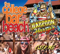 """Check out Harpoon Harry's after you check in for Spring Break. One of the Top Party Spots and right across from """"The Summit"""". Book now at www.travelintoucan.com"""