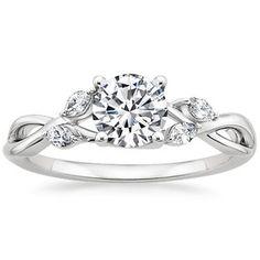 18K White Gold Willow Diamond Ring