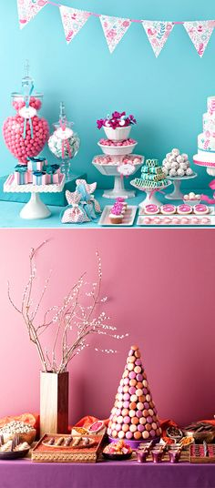 A Candy or Dessert Buffet is a fun way to bring life to serving your guests sweets ;)