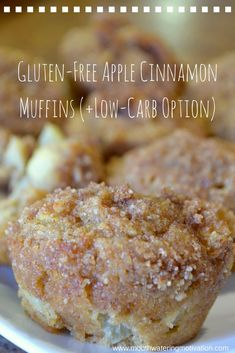 Gluten-Free Apple Cinnamon Muffins (Low-Carb Option) Soft, Sugary and Sweet. Muffins Sans Gluten, Dessert Sans Gluten, Gluten Free Sweets, Gluten Free Oats, Gluten Free Baking, Dairy Free Recipes, Low Carb Recipes, Apple Muffins Gluten Free, Keto Apple Recipes
