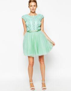 Forever Unique Belle Heavily Embellished Skater Dress