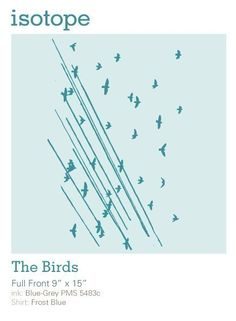 Birds Shirt and Power Lines tshirt by isotope on Etsy, $15.00