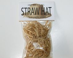 One size fits all Straw Hat – Some assembly required (Gag Gift) – Deborah - Space Silly Gifts, Joke Gifts, Gag Gifts Christmas, Santa Christmas, Homemade Christmas, Redneck Gifts, Baby Led Weaning, Friend Birthday Gifts, 70th Birthday