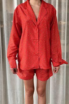 Orange star strewn silk/cotton pyjamas by AlexandriaMain on Etsy