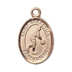 14kt Gold St. Sebastian/Basketball Medal. Patron Saint of Athletes/Soldiers >>> More info could be found at the image url. (This is an affiliate link and I receive a commission for the sales)