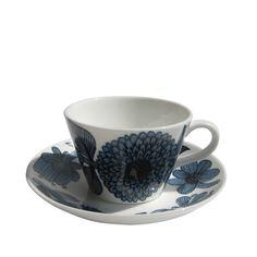 グスタフスベリ /リンドベリ BLUE ASTERコーヒーカップ&ソーサー
