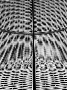 """""""Four panels of woven steel"""" by noisehead on Flickr. a detail from the new building onthe campus of the GUY HOSPITAL at london bridge. its covered in multiple curved panels of woven steel wire."""