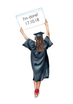 Graduation gift - graduation art - grad print - fashion illustration - gift idea - gifts for her - class of 2018 - graduated - grad student Graduation Picture Poses, Graduation Pictures, Graduation Cards, Graduation Drawing, Class Of 2018, Jolie Photo, Fashion Prints, Student, Drawings