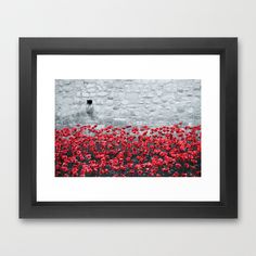 Tower Poppies 02B Framed Art Print by Pete Edmunds - $38.00
