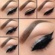 Imagen vía We Heart It https://weheartit.com/entry/104665808 #amazing #beautiful #beauty #eye #eyeliner #eyeliner #eyes #fashion #girl #girly #india #love #lovely #makeup #paris #silver #style #stylish #woman