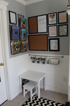 Style Oyster: Kids Organized Art Area