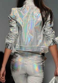 "Trend Alert: Holographic Everything  by Brunette Braid ✮✮Feel free to share on Pinterest"" ♥ღ WWW.FASHIONANDCLOTHINGBLOG.COM"