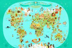 Mapa divertido « Constance Zahn – Blog sobre bebês e crianças para mães antenadas