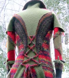Recycle Sweaters   COAT made from recycled cashmere and wool sweaters