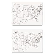 BESTSELLER Chenille Kraft White Board Die Cut US - Us map whiteboard