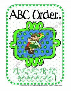 St Patrick's Day ABC order