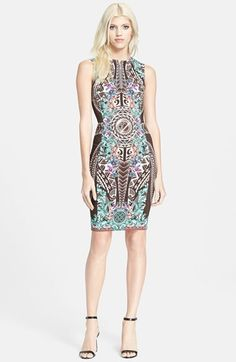 Versace Collection Print Front Zip Dress