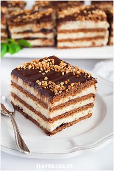 ciasto chałwowe Polish Desserts, Cold Desserts, Polish Recipes, No Bake Desserts, Healthy Desserts, Dessert Recipes, Baking Recipes, Cookie Recipes, Homemade Cakes