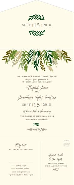 Fall Harvest Seal & Send Wedding Invitations