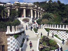 Antoni Gaudi.  Parc Güell.  1914.  Modern Architecture.