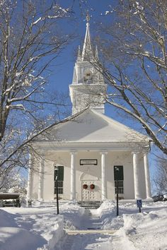 Country Church In Winter Maine Photograph - Country Church In Winter Maine Fine Art Print Churches Of Christ, Old Churches, Snow Scenes, Winter Scenes, Old Country Churches, Church Pictures, Church Building, Place Of Worship, New England
