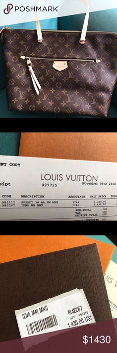 LV IENA MM//SELL OR TRADE New never used/purchased in November 2016 at Tyson's Corner Galleria VA/will post more pics soon. Louis Vuitton Bags Shoulder Bags