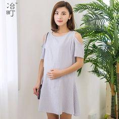 996389d8b8e5d Wholesale summer stripe nursing sexy breastfeeding maternity dresses for  women elegant Nursing Wear, Nursing Dress