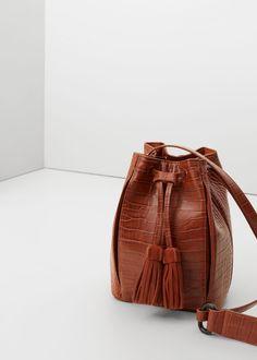 Tasche mit lederapplikationen - Taschen für Damen   MANGO Deutschland