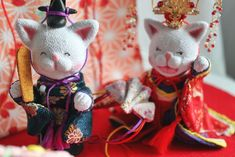 Poupée Chat, maneki neko,Hinamaturi,kimono,rebon