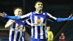 March 2014: Leon Best's goal celebration against Brighton.