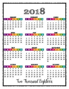 2018 monthly calendar printable mambi inserts big classic