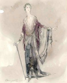 The Royal Family (Fanny Cavendish, Act II). Costume design by William Ivey Long.