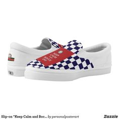 """Slip-on """"Keep Calm and Bocce On"""" Athletic Shoes"""