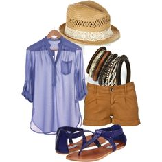 Blue and Tan, created by nattytat on Polyvore