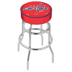 Give your bar a little vintage inspiration with a modern edge with the Chrome Florida State Seminoles Double-Rung Swivel Back Bar Stool. You'll be taken back in time with the retro styling of a corner soda shop bar stool. The padded bar chair fe. 30 Bar Stools, Swivel Bar Stools, Counter Stools, Bar Chairs, Bar Counter, Colorado Avalanche, Vancouver Canucks, Missouri Western, Western Michigan