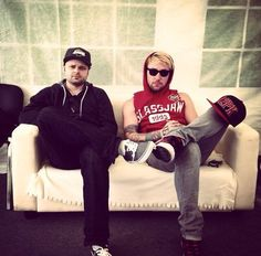 Hollywood Undead. Charlie Scene & Danny Murillo