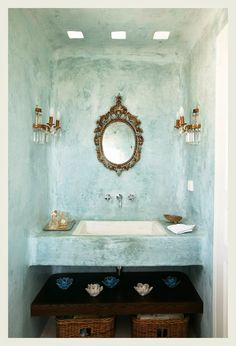 An Indian Summer: The Call Of Aqua sigi koko says ....Tadelakt is a polished. sealed lime plaster finish that creates a waterproof surface. The lime can be pigmented, producing wonderful effects when polished.